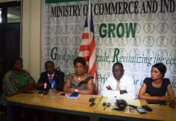 Commerce Minister, Prof. Tarpeh and other officials of the MOCI