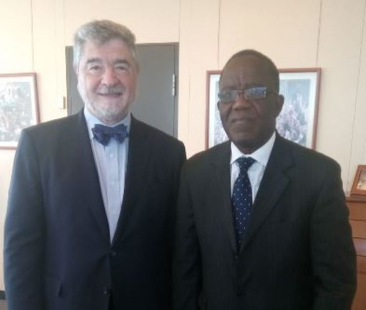 Prof. Tarpeh meets with the Vice Director General of WIPO during the  e-Commerce Week