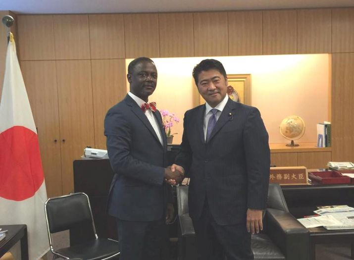 Commerce Minister Axel M. Addy visits Japan as Special Guest of the Japanese Government