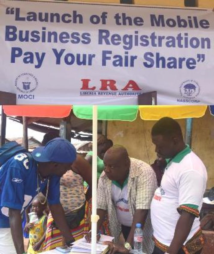 Ministry of Commerce and Industry, National Social Security and Welfare Corporation and Liberia Revenue Authority Launch Mobile Business Registration