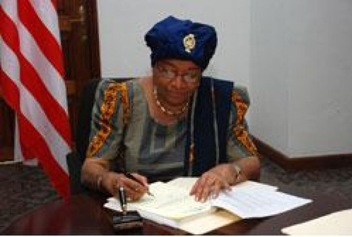 President Sirleaf Presents Small Business Act for Enactment